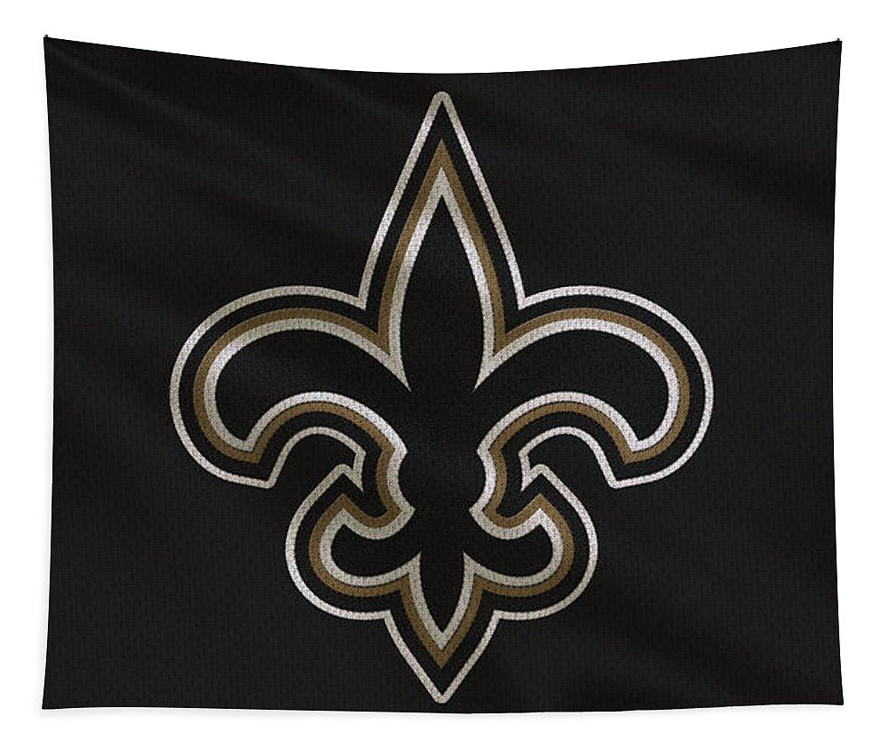 Saints Tapestry featuring the photograph New Orleans Saints Uniform by Joe Hamilton