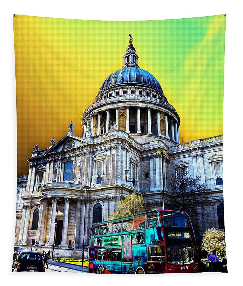 St Pauls Tapestry featuring the digital art St Pauls Cathedral London Art by David Pyatt