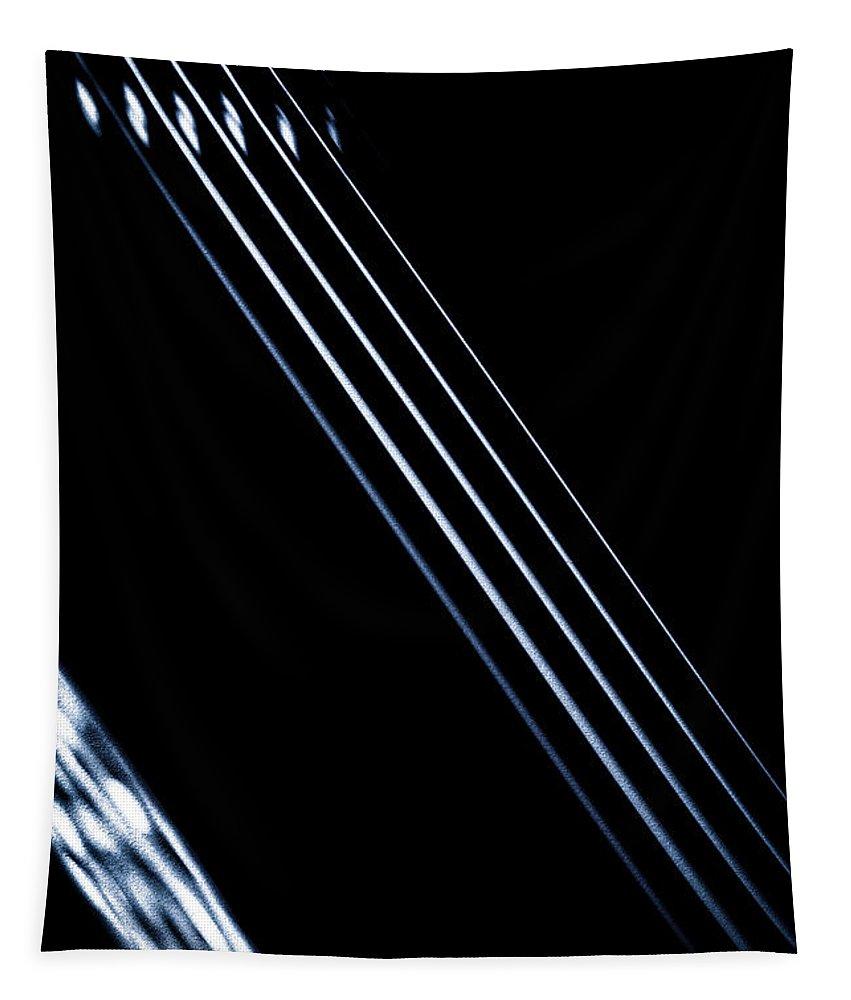 Foundation Tapestry featuring the photograph 5 Strings Of Light by Bob Orsillo