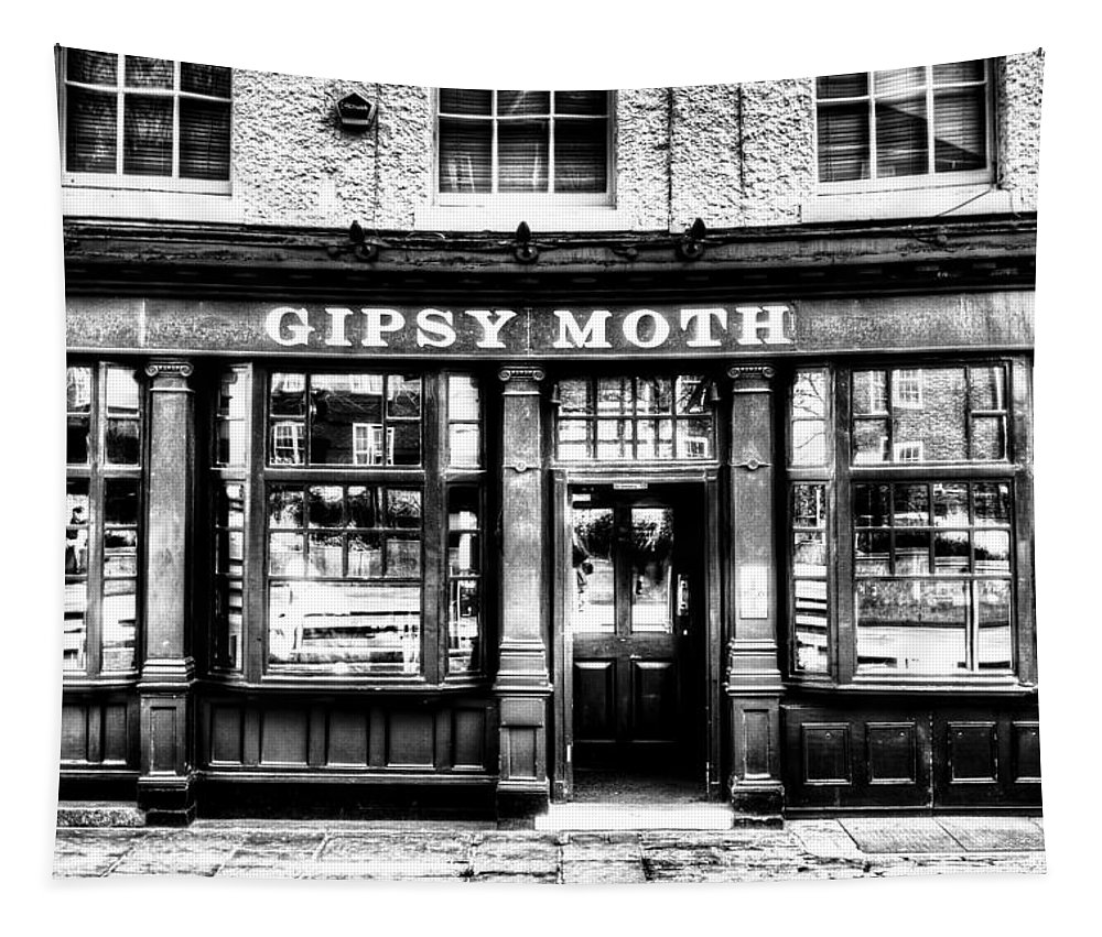 London Tapestry featuring the photograph The Gipsy Moth Pub Greenwich by David Pyatt