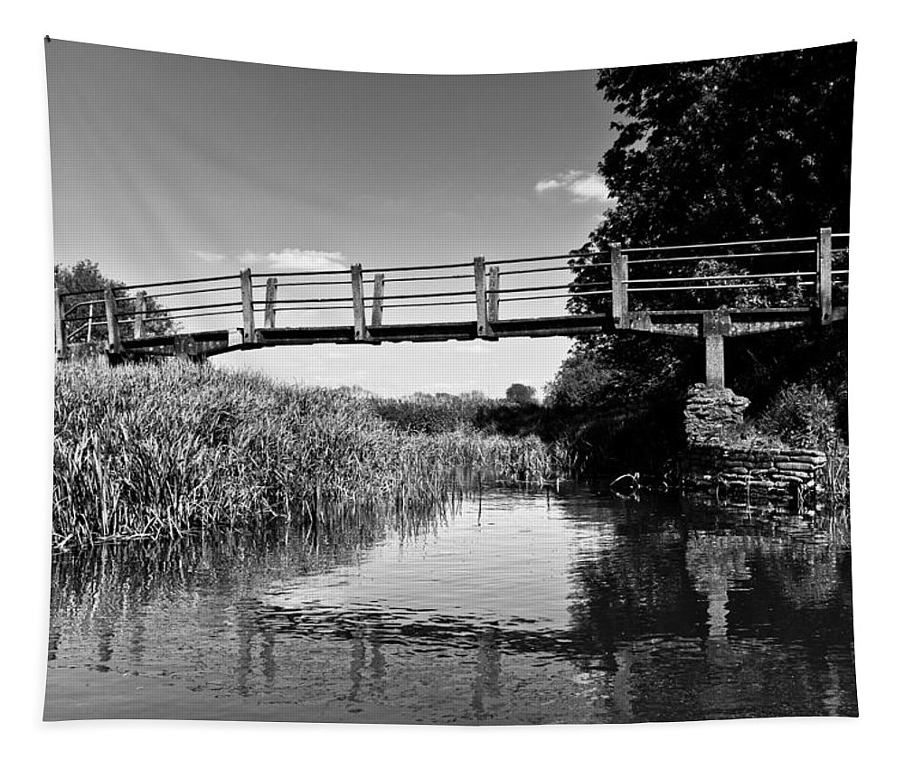 The Bridge Tapestry featuring the photograph The River by David Pyatt