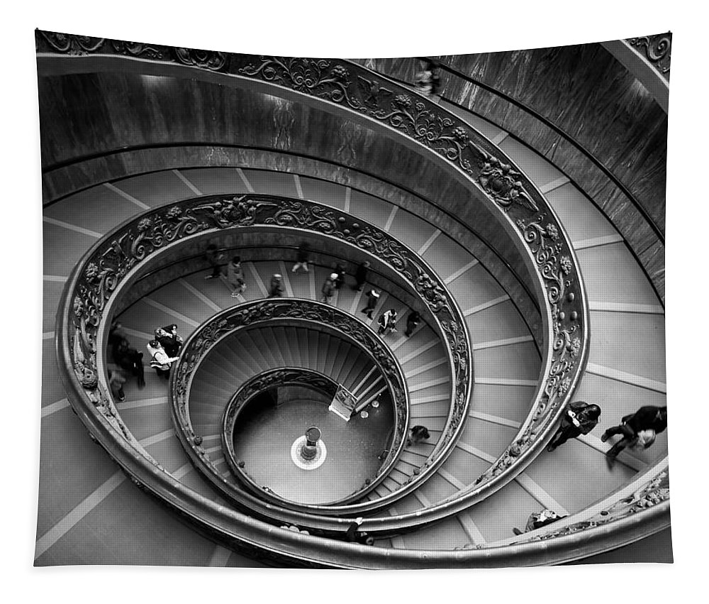 2013. Tapestry featuring the photograph The Vatican Stairs by Jouko Lehto