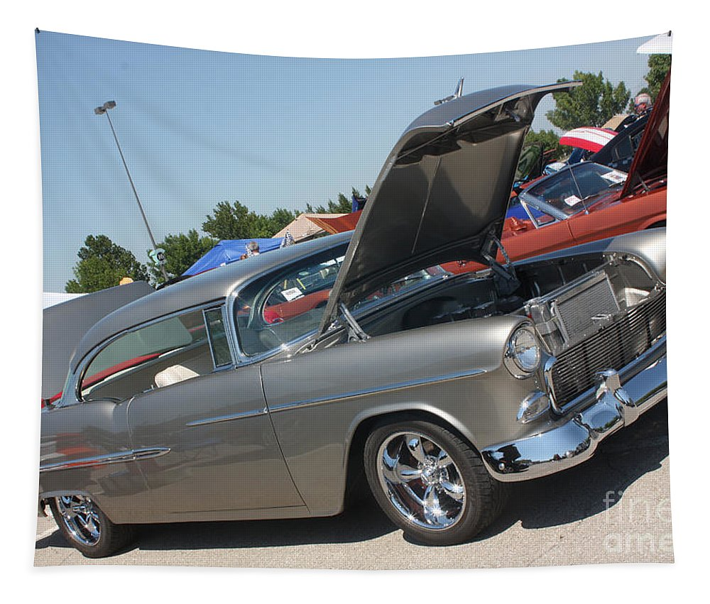 1955 Chevrolet Bel Air Tapestry featuring the photograph 55 Bel Air-8206 by Gary Gingrich Galleries
