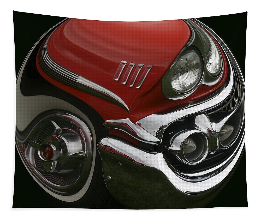 58 Chevy Tapestry featuring the photograph 58 Chevy by Wes and Dotty Weber