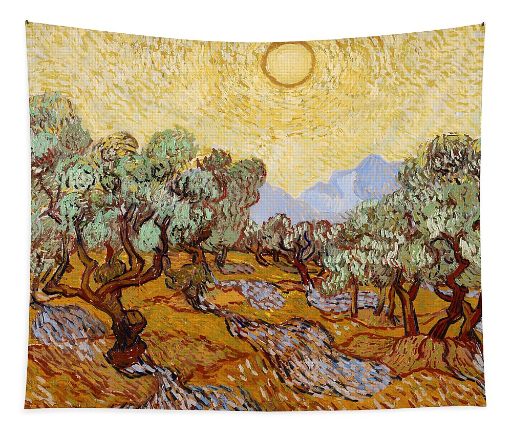 Painting Tapestry featuring the painting Olive Trees by Mountain Dreams