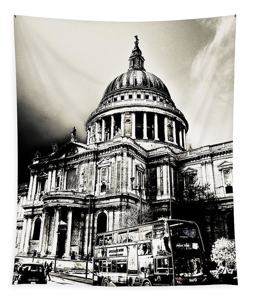 St Pauls Tapestry featuring the digital art St Pauls Cathedral London Art by David Pyatt