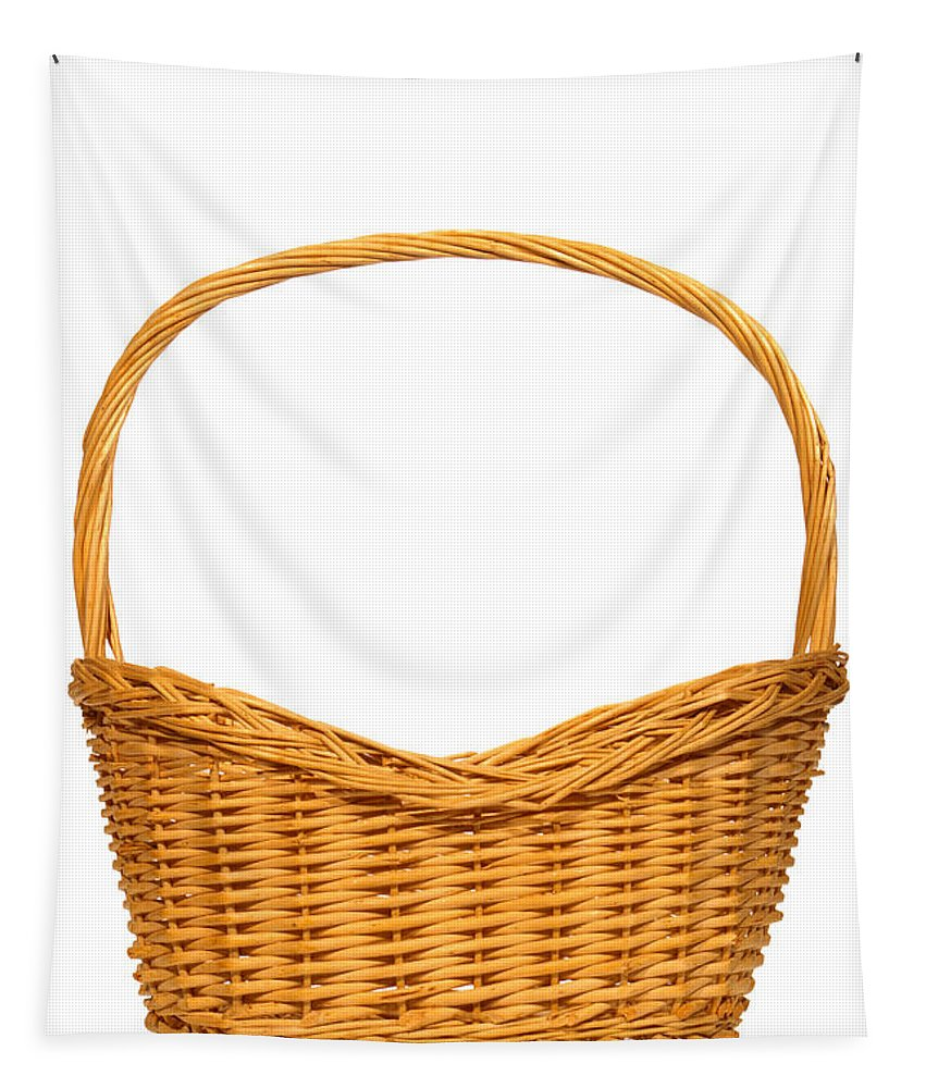 Basket Tapestry featuring the photograph Wicker Basket Number Seven by Olivier Le Queinec