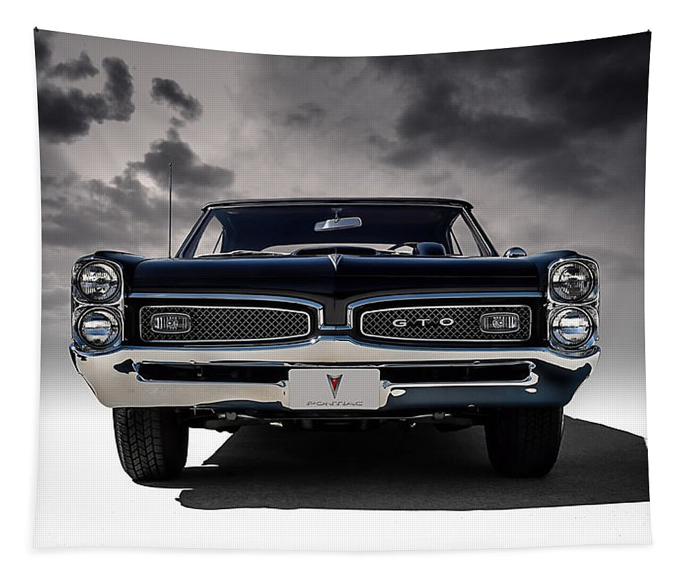 Transportation Tapestry featuring the digital art '67 Gto by Douglas Pittman