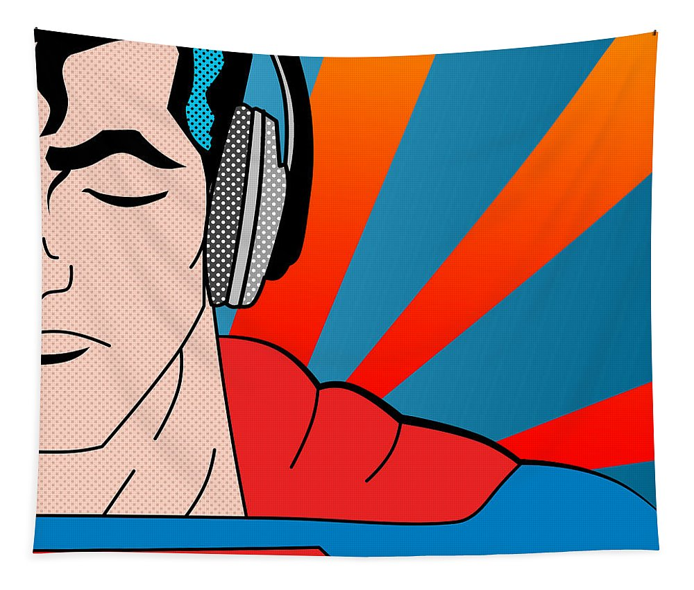 Pop Culture Tapestry featuring the digital art Superman by Mark Ashkenazi