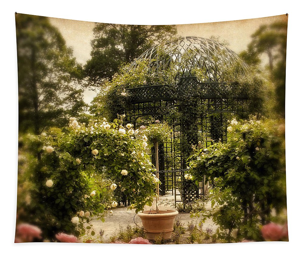 Spring Tapestry featuring the photograph Rose Arbor by Jessica Jenney