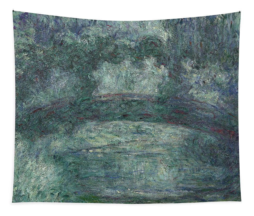 Claude Monet Tapestry featuring the painting The Japanese Bridge by Claude Monet