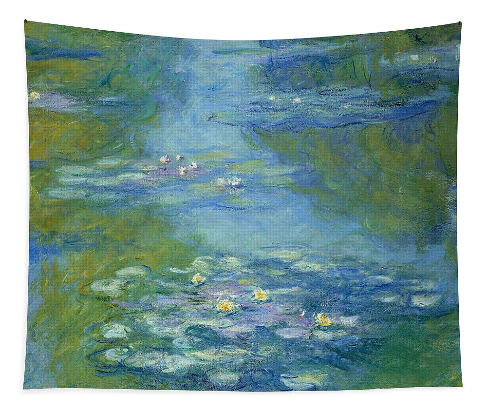 French Tapestry featuring the painting Waterlilies by Claude Monet