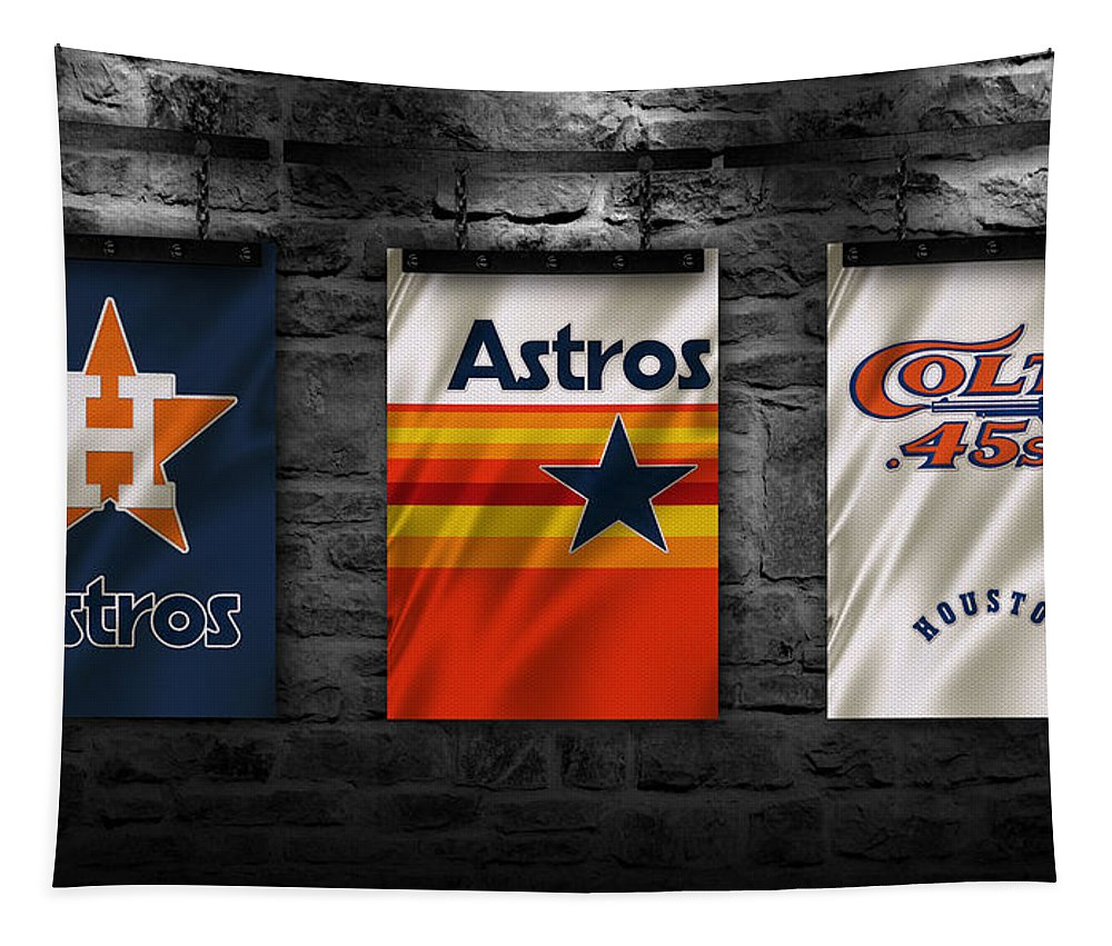 Astros Tapestry featuring the photograph Houston Astros by Joe Hamilton
