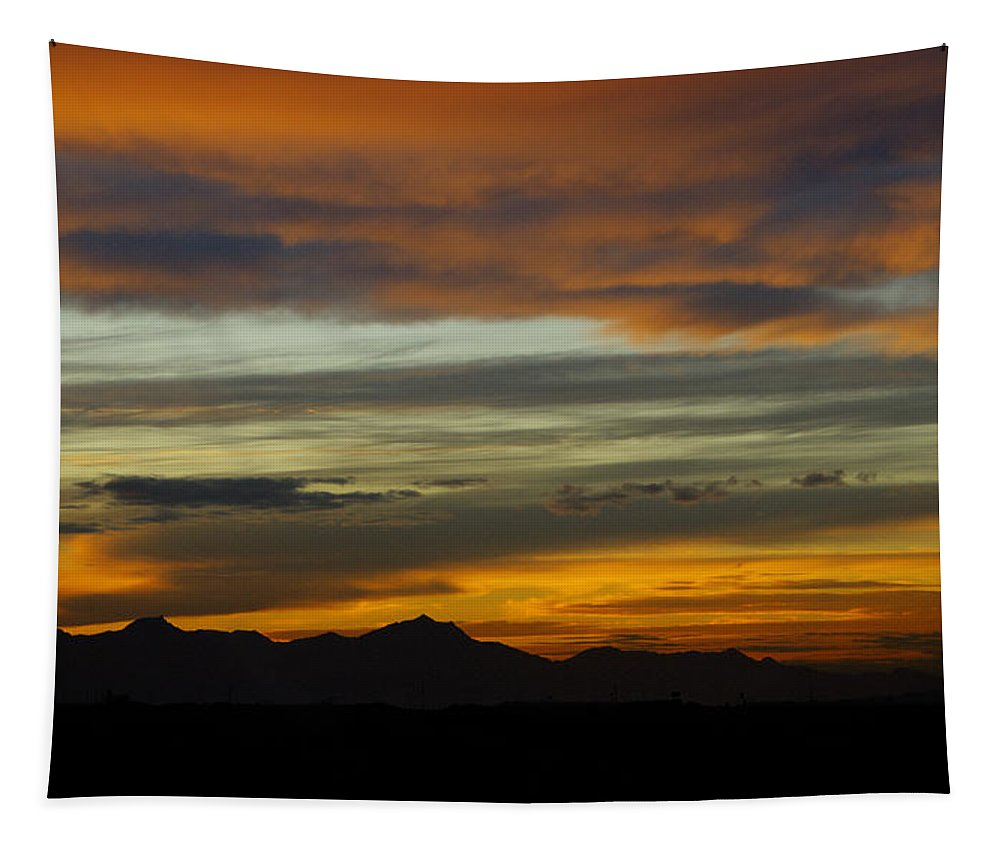 Sunset Tapestry featuring the photograph A Break In The Storm by Saija Lehtonen