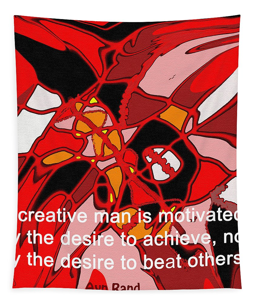 Abstract Tapestry featuring the digital art A Creative Man by Ian MacDonald