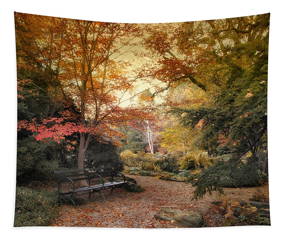 Autumn Tapestry featuring the photograph A Formal Garden by Jessica Jenney