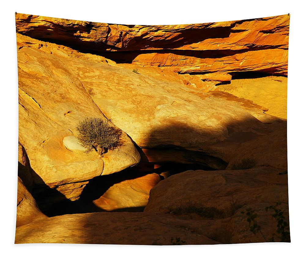 Holes Tapestry featuring the photograph A Hole In The Rock by Jeff Swan