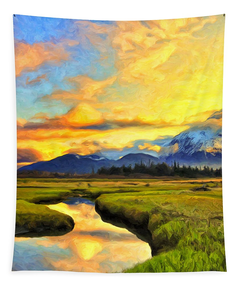 A New Day Tapestry featuring the painting A New Day by Dominic Piperata