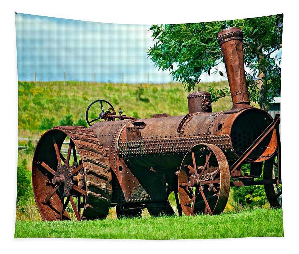 Farming Tapestry featuring the photograph A Once Mighty Beast by Steve Harrington