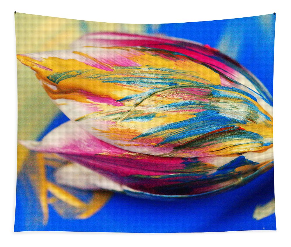 Tulip Tapestry featuring the photograph A Painted Tulip. by Jeff Swan