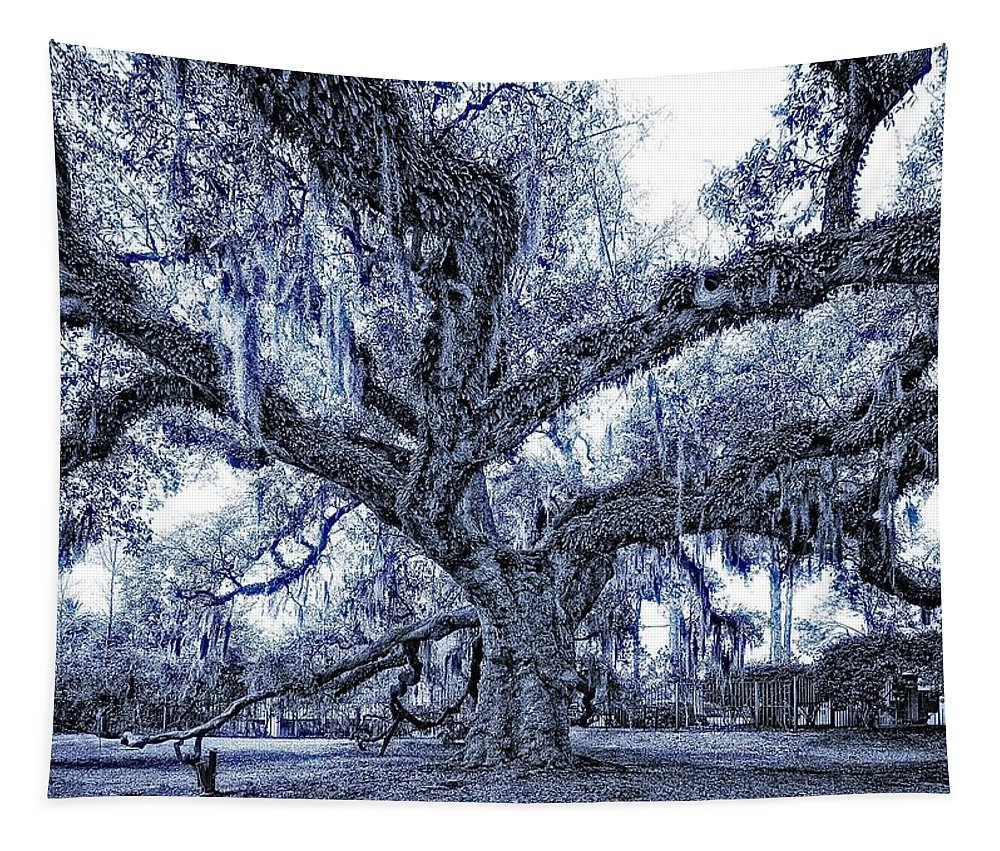 New Orleans Tapestry featuring the photograph A Place For Dying Blue by Steve Harrington