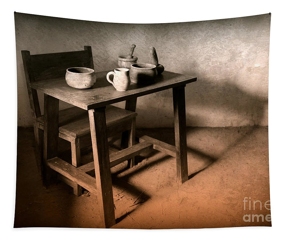 Vintage Tapestry featuring the photograph A Simpler Time by Carol Groenen