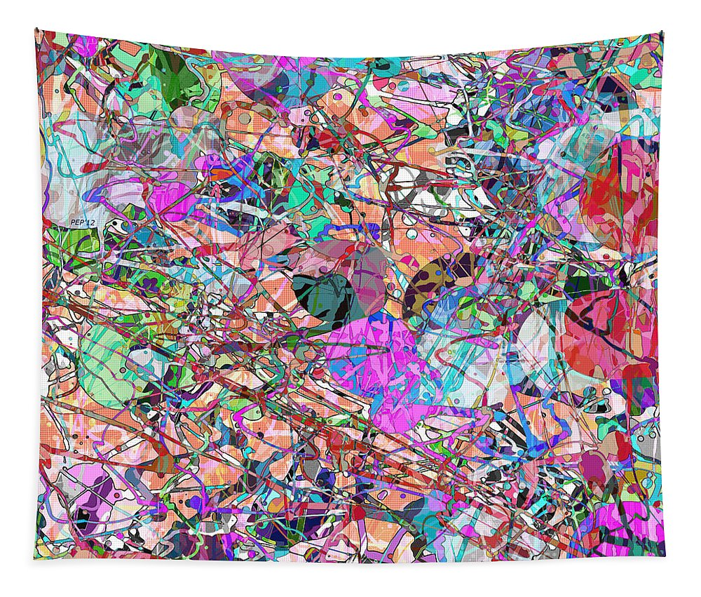 Abstract Tapestry featuring the digital art A Splash Of Abstract by Phil Perkins