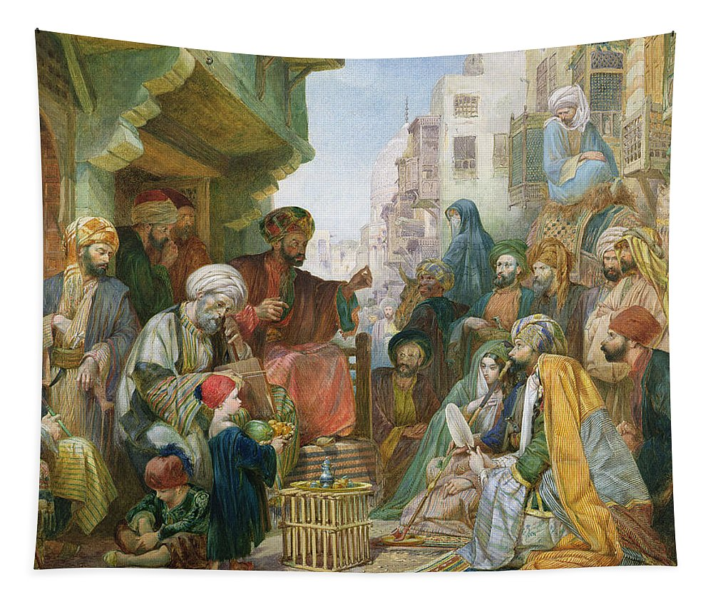 Egypt Tapestry featuring the painting A Street In Cairo by John Frederick Lewis