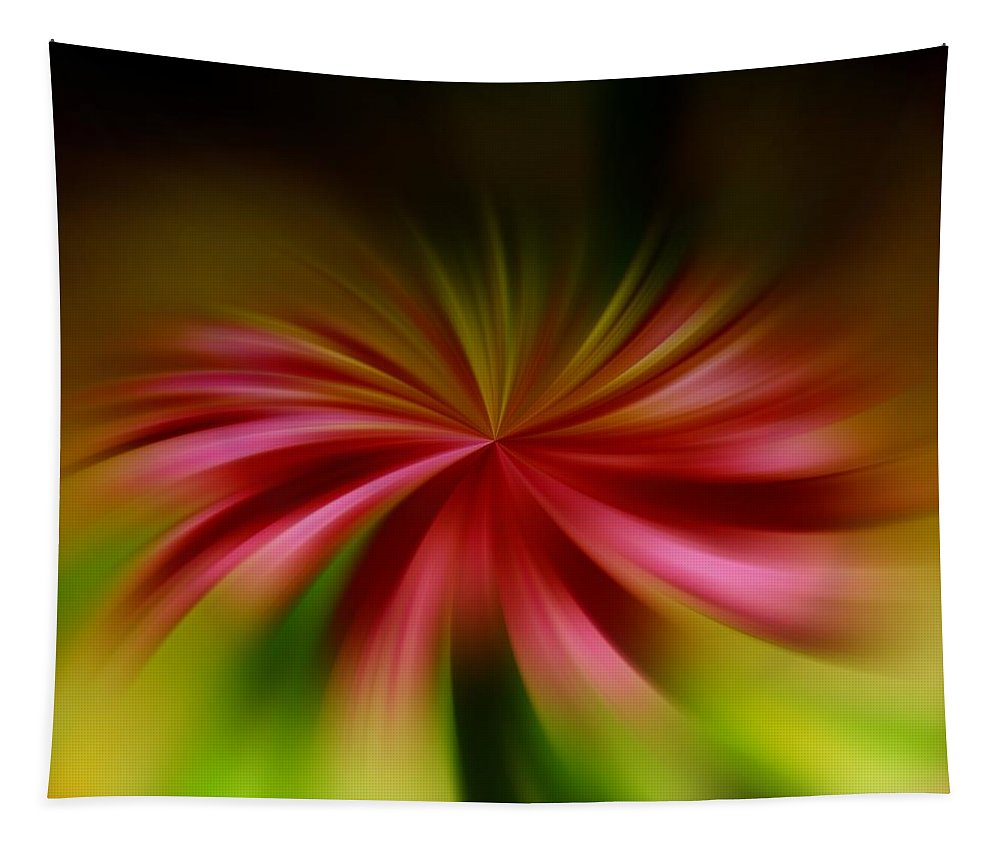 Abstract Tapestry featuring the photograph A Swirled Flower by Jeff Swan