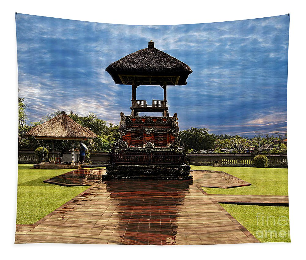 Temple Tapestry featuring the photograph A Temple by Ben Yassa