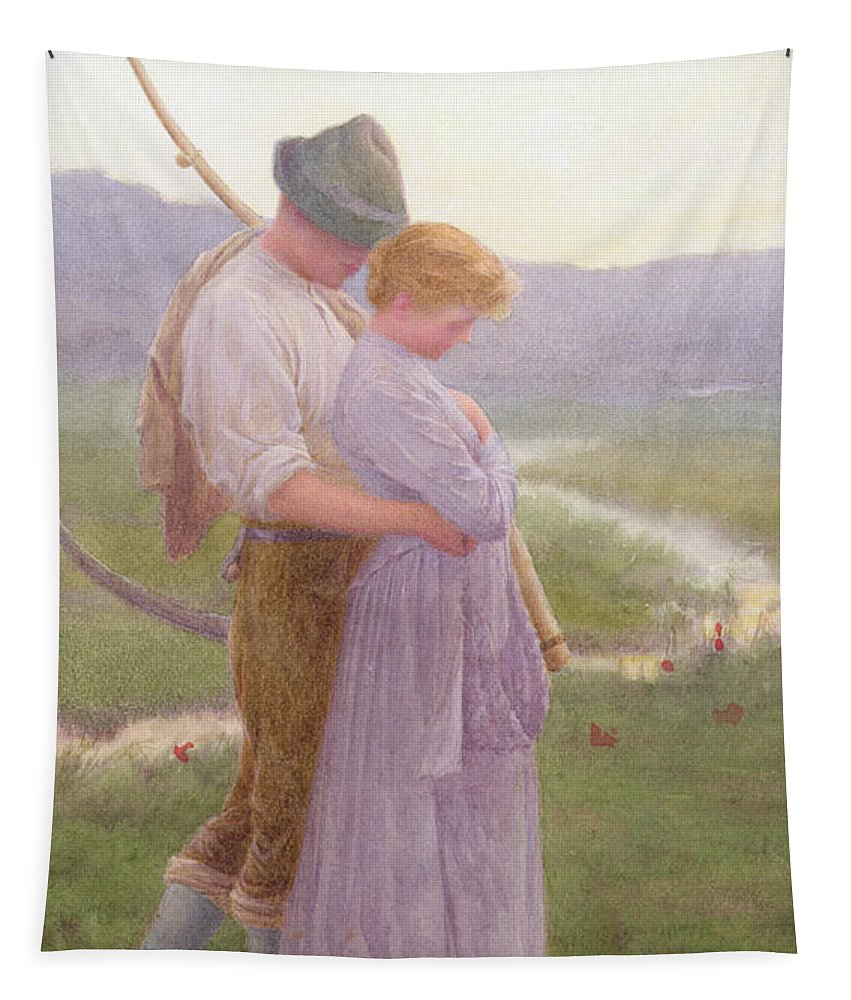 Love Tapestry featuring the painting A Tender Moment by William Henry Gore
