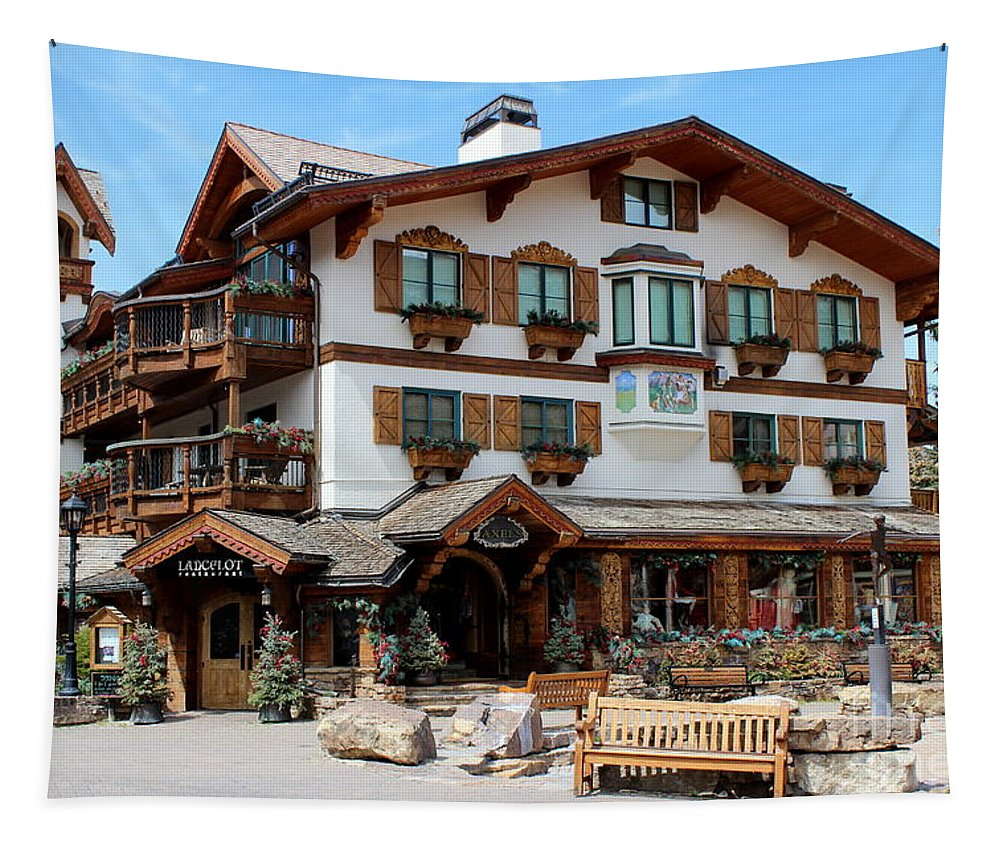 Vail Village Tapestry featuring the photograph A Touch Of Class by Fiona Kennard