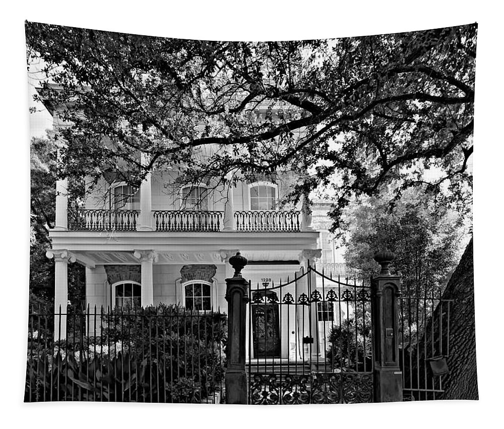 Garden District Tapestry featuring the photograph A Touch Of Class Monochrome by Steve Harrington