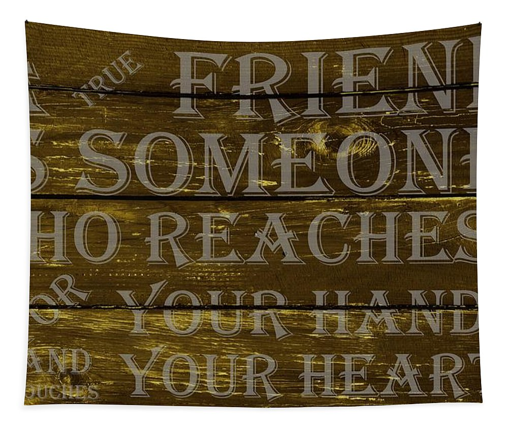 Friend Tapestry featuring the digital art A True Friend by Movie Poster Prints
