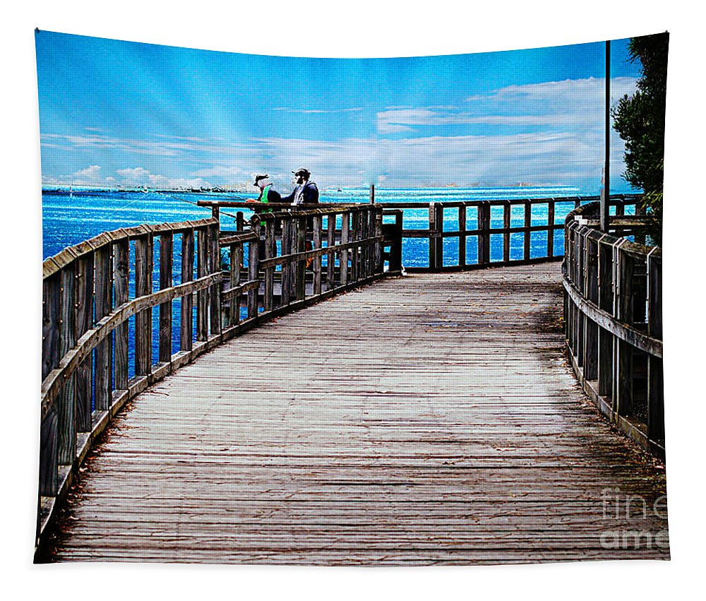 Walk Tapestry featuring the photograph A Walk by Ben Yassa
