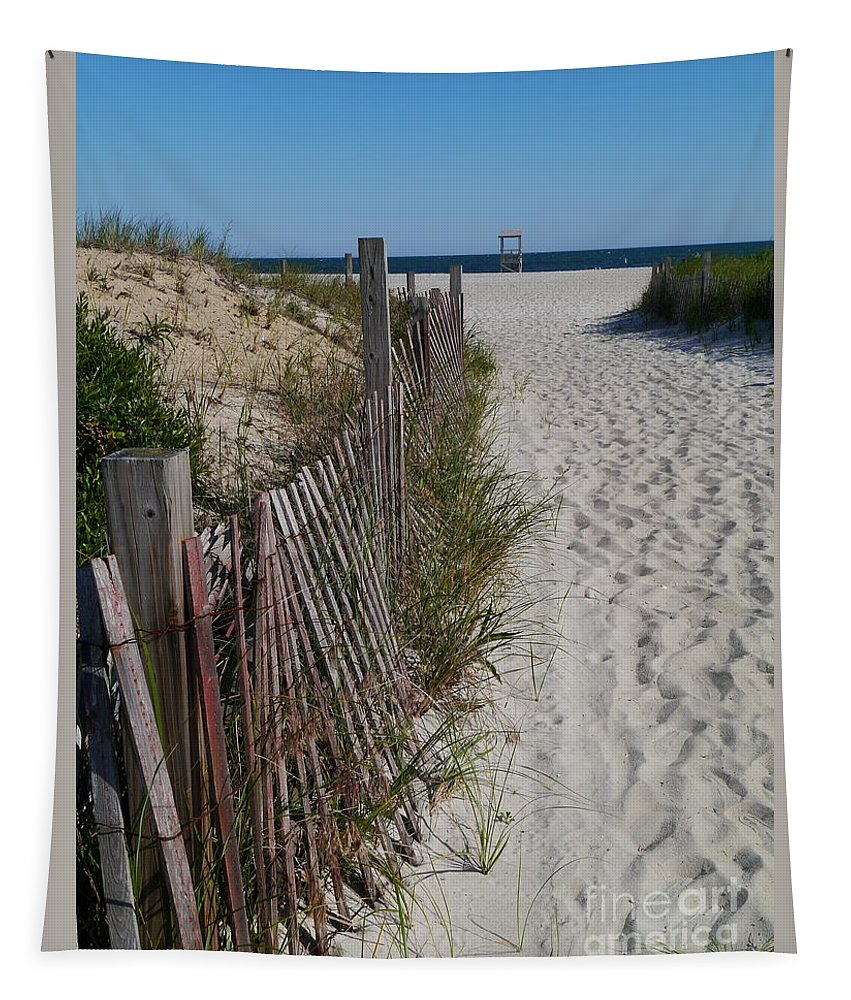 Beach Tapestry featuring the photograph A Wonderful Beachday On Cape Cod by Christiane Schulze Art And Photography