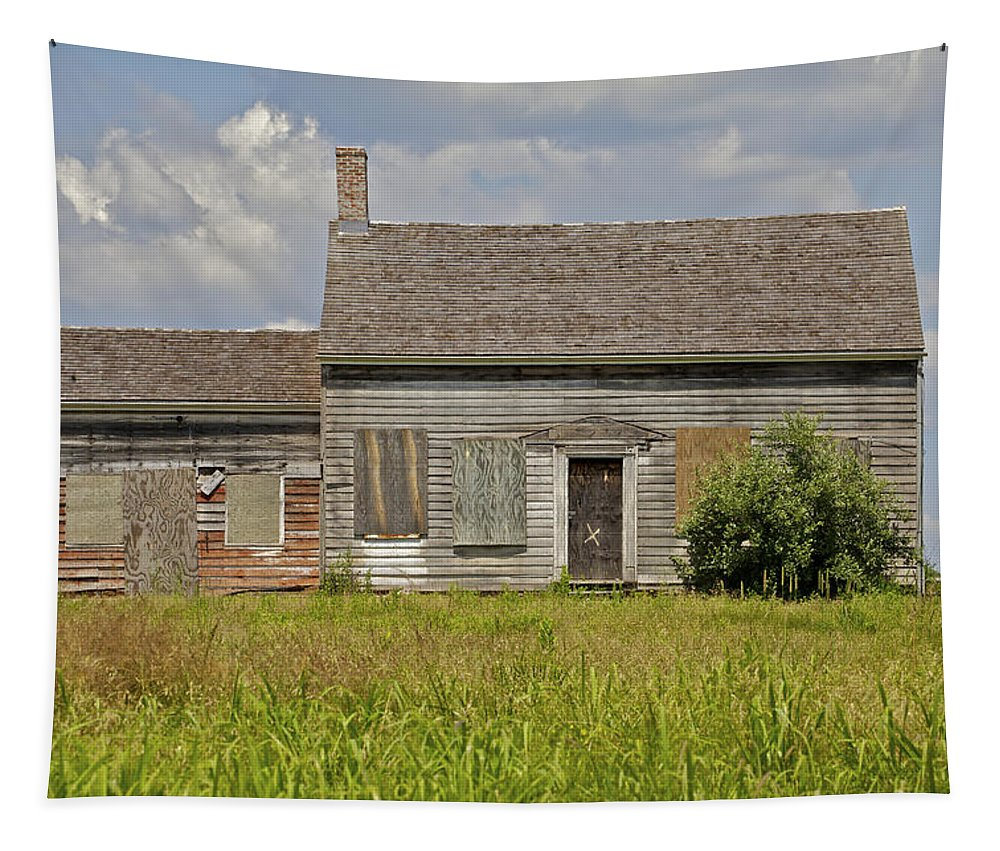 Abandon Tapestry featuring the photograph Abandon Farm Home by David Letts