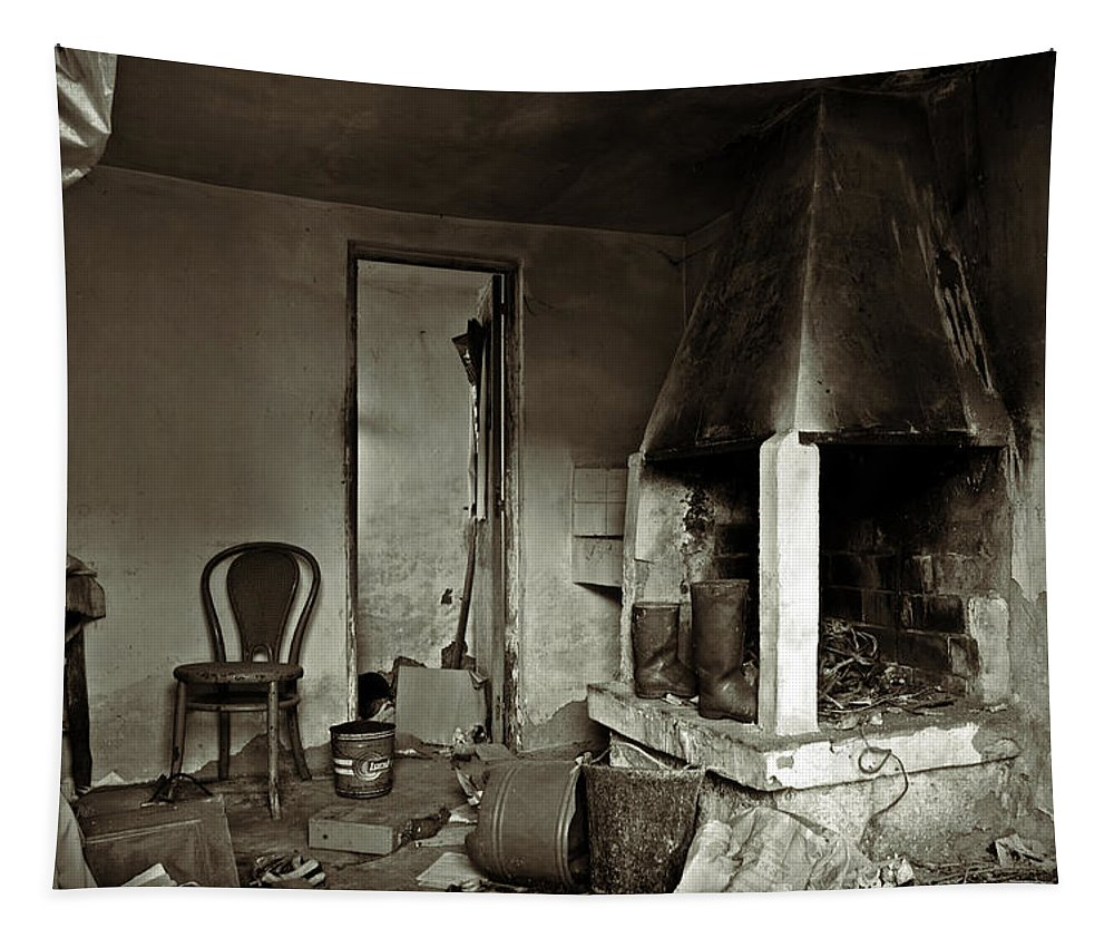 Abandoned Tapestry featuring the photograph Abandoned In A Rush by RicardMN Photography
