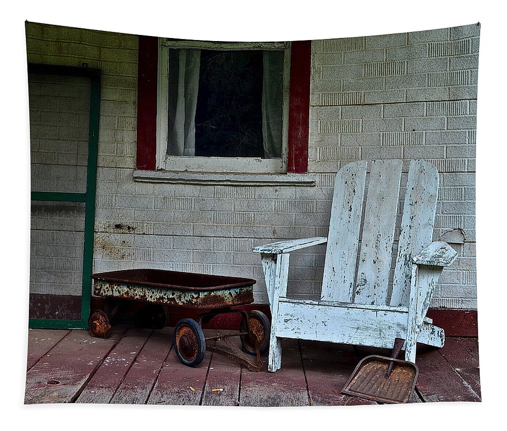 Abandoned Tapestry featuring the photograph Abandoned by Frozen in Time Fine Art Photography