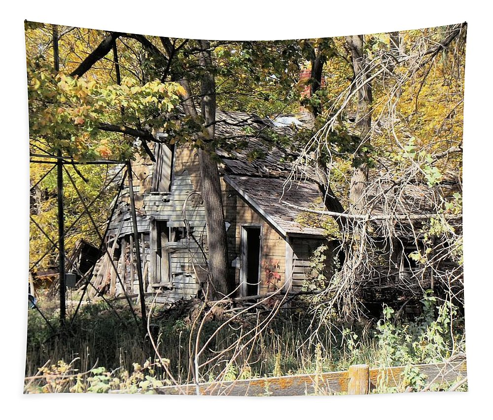 Abandoned Tapestry featuring the photograph Abandonment by Bonfire Photography