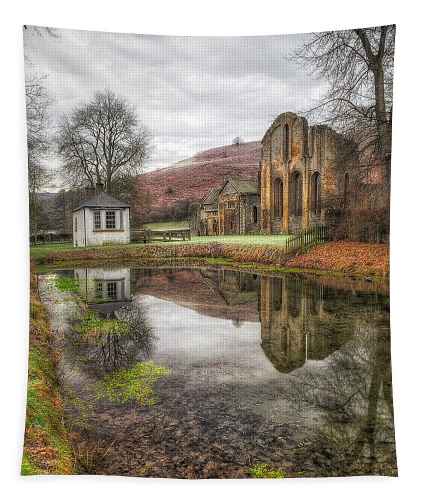 13th Century Tapestry featuring the photograph Abbey Reflection by Adrian Evans