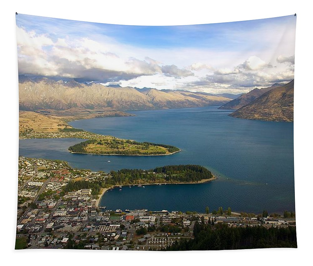 New Zealand Tapestry featuring the photograph Above Queenstown by Stuart Litoff