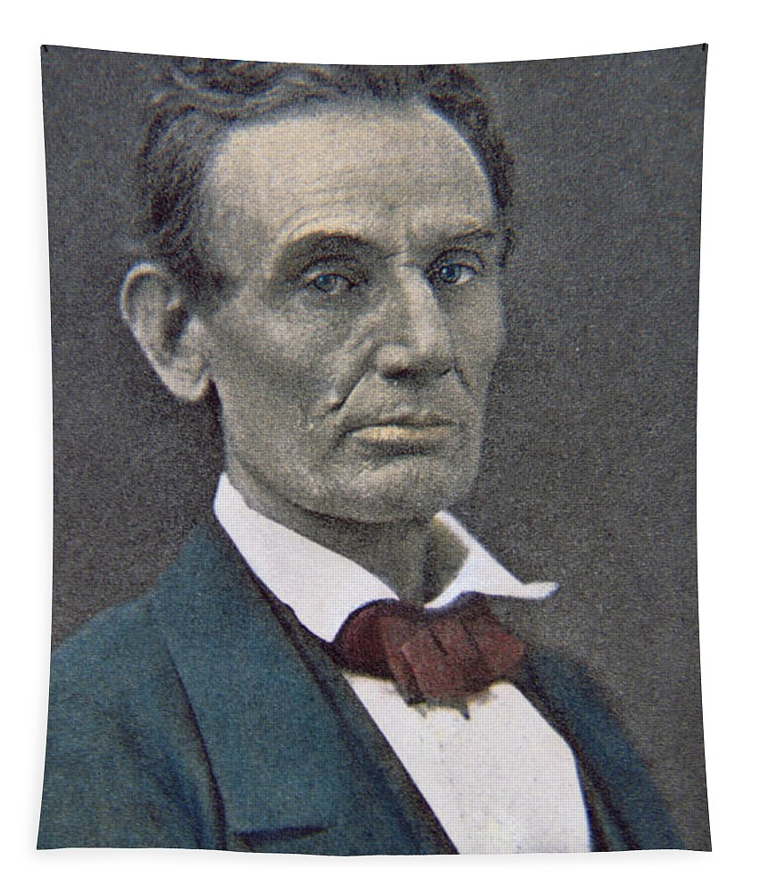 Statesman Tapestry featuring the photograph Abraham Lincoln by American Photographer