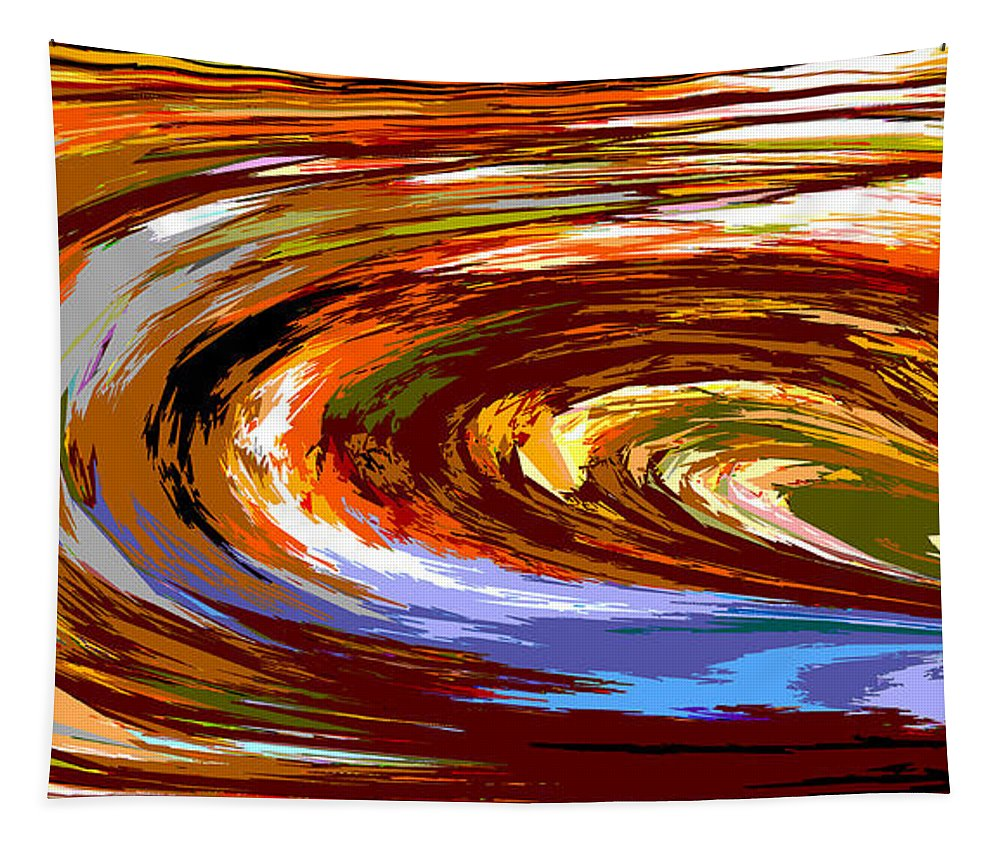 Abstract Tapestry featuring the digital art Abstract #140814 - Inside The Pipeline by Mark Fuge