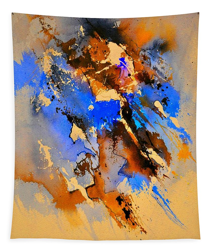 Abstract Tapestry featuring the painting Abstract 4110212 by Pol Ledent