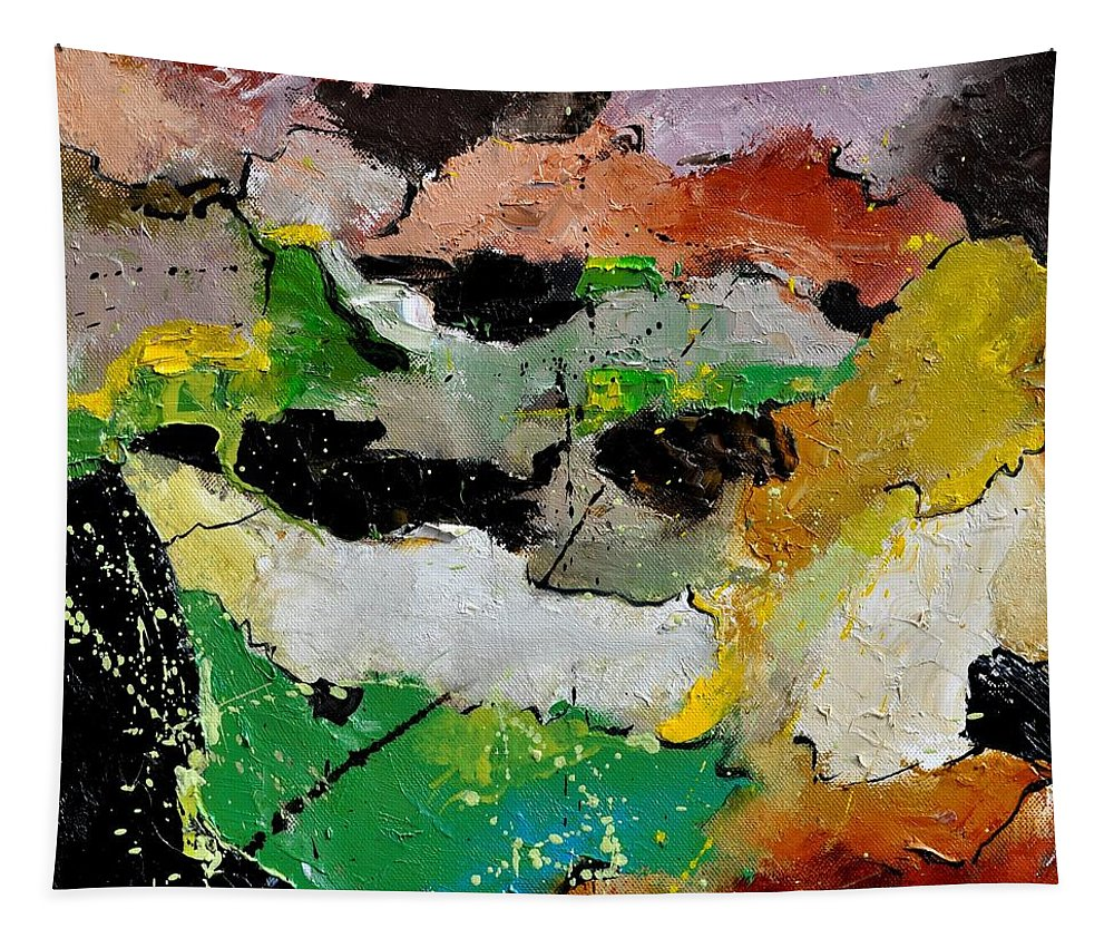 Abstract Tapestry featuring the painting Abstract 44501 by Pol Ledent