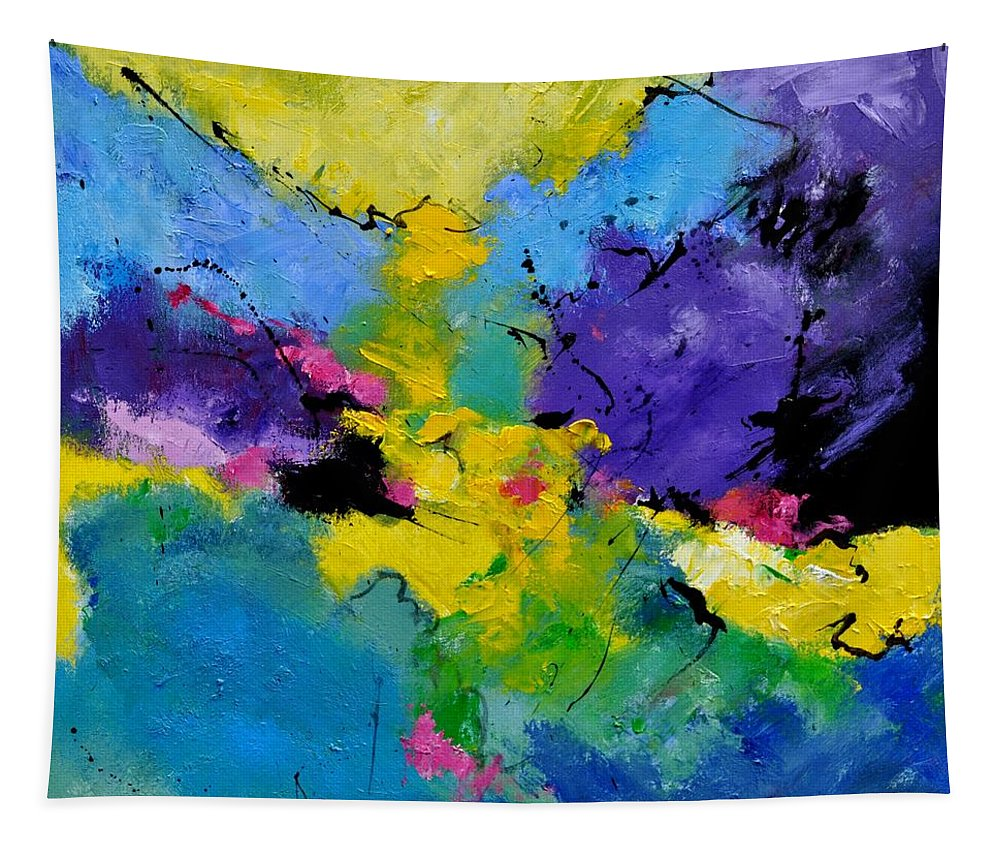 Abstract Tapestry featuring the painting Abstract 7741301 by Pol Ledent