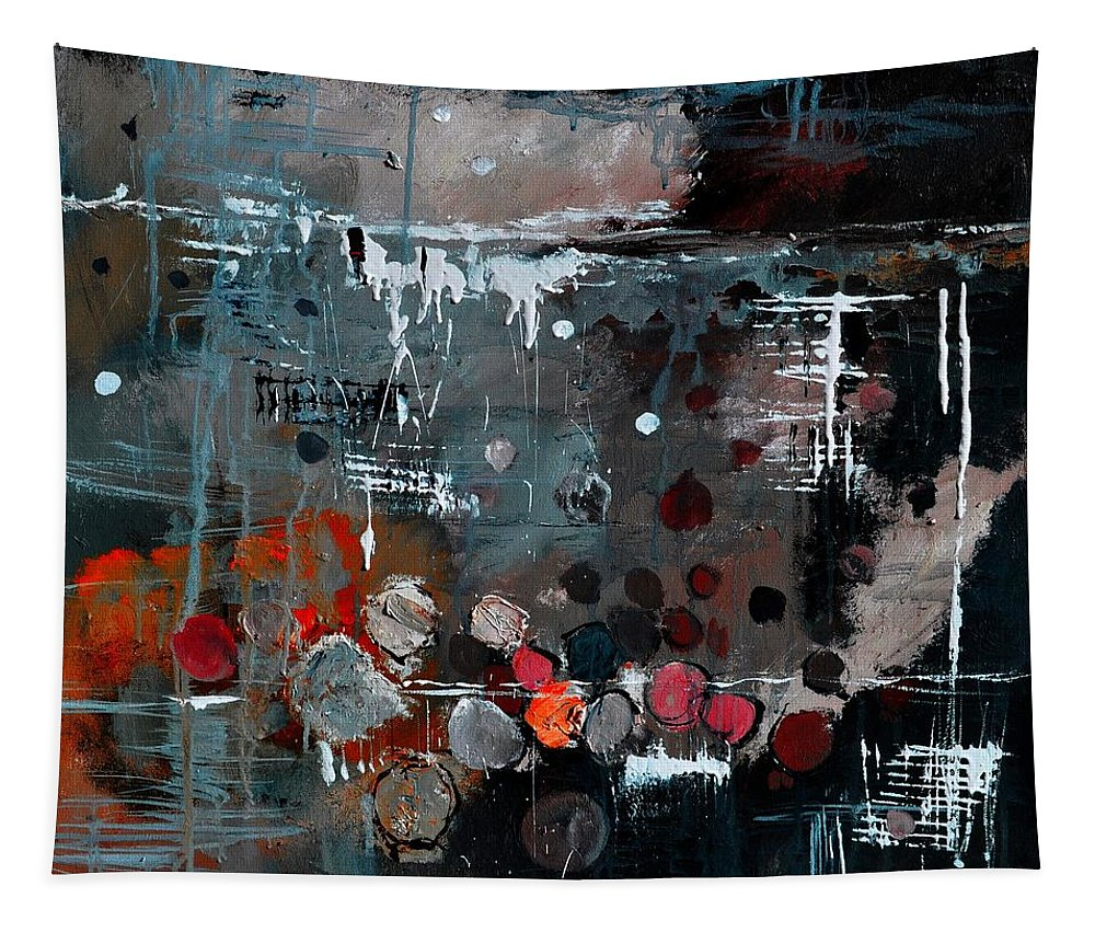 Abstract Tapestry featuring the painting Abstract 77413022 by Pol Ledent