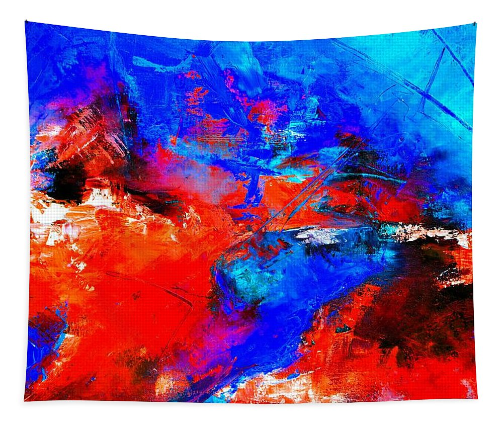 Abstract Tapestry featuring the painting Abstract 9683805 by Pol Ledent