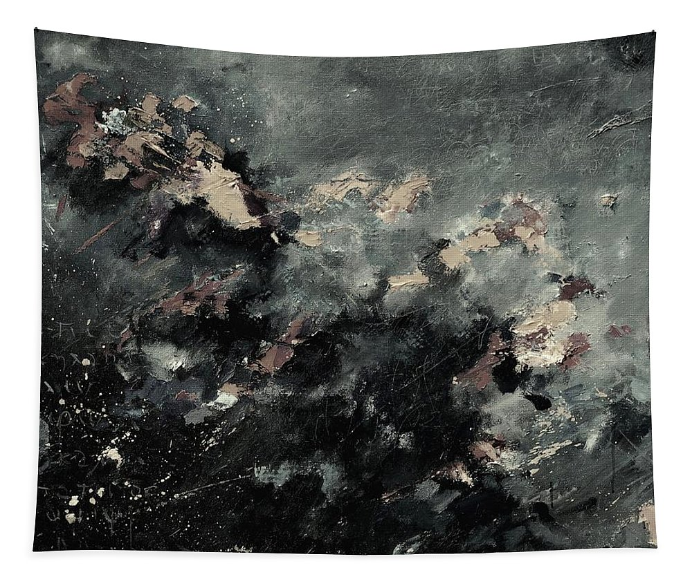 Abstract Tapestry featuring the painting Abstract 9712072 by Pol Ledent